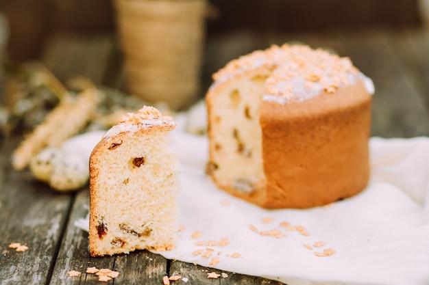 Savoureux fond de dîner rustique de pâques Photo Premium