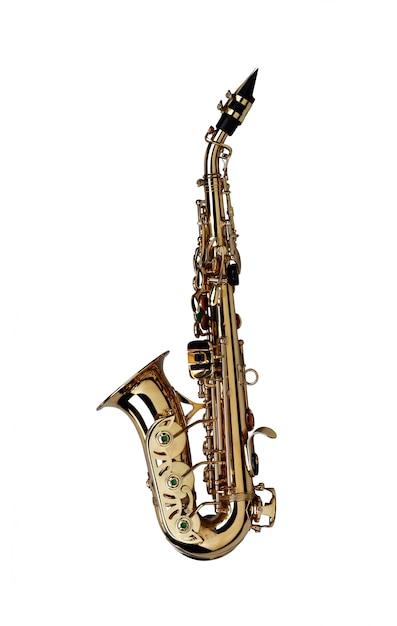 Saxophone isolé Photo Premium