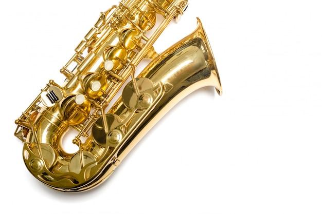 Saxophone jazz instrument isolé Photo Premium
