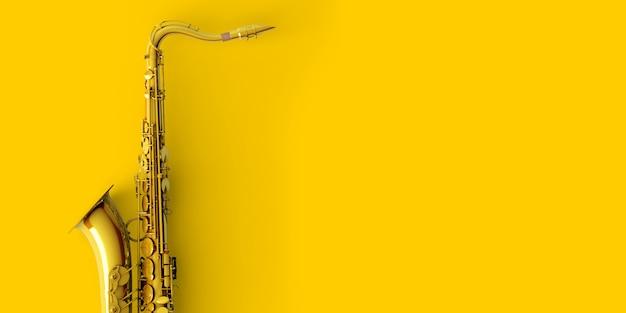 Saxophone en or jaune Photo Premium