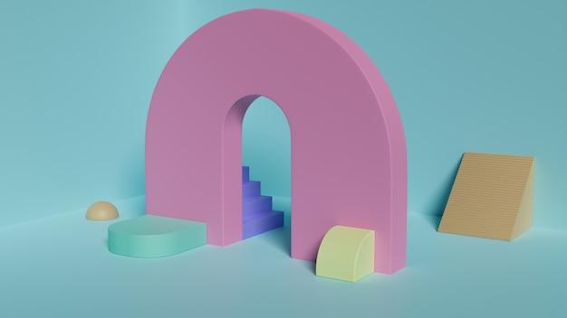 Scène Aux Formes Géométriques Photo Premium
