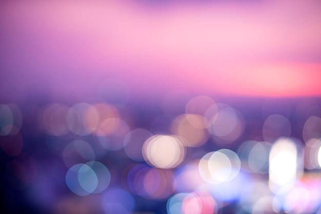 Scène floue de la vue de la ville la nuit Photo gratuit