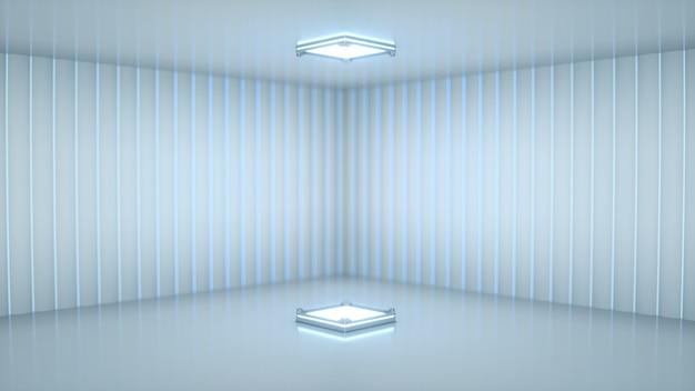 Scène avec projecteur blanc Photo Premium