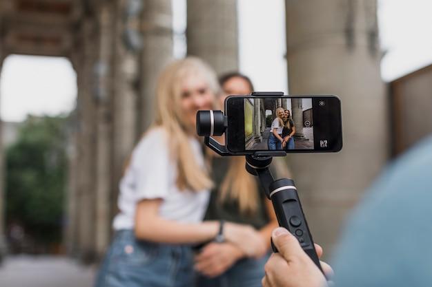 Séance De Prise De Vue Caméra Téléphone Vue Arrière Photo gratuit