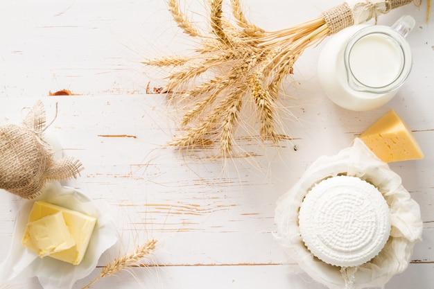 Sélection de produits laitiers Photo Premium