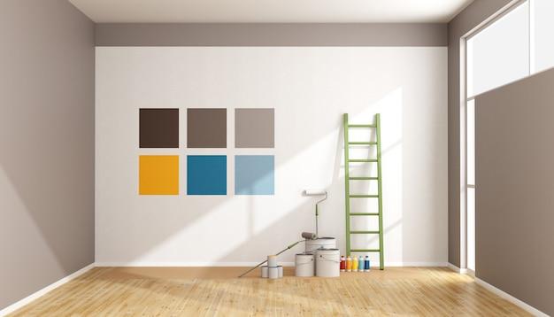 Sélectionnez Un échantillon De Couleur Pour Peindre Le Mur Photo Premium