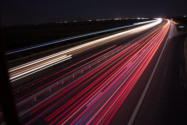 Sentiers de lumière du pont Photo Premium