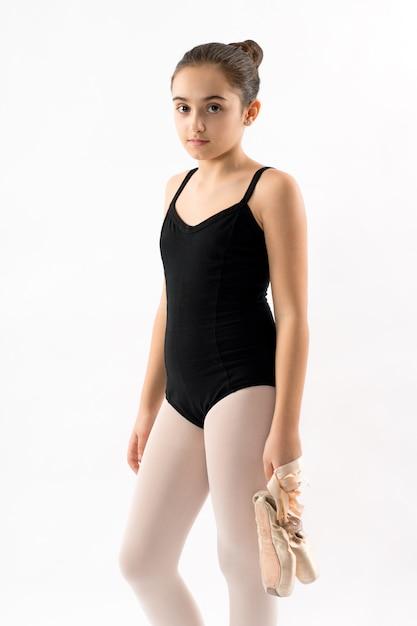 Sérieux jeune jolie ballerine Photo Premium