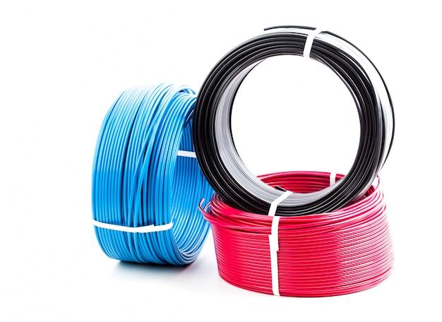 Set câble électrique de couleur Photo Premium