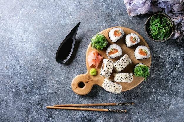 Set de rouleaux de sushi Photo Premium