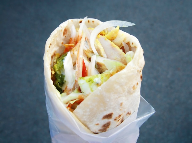 Shawarma traditionnel oriental Photo Premium