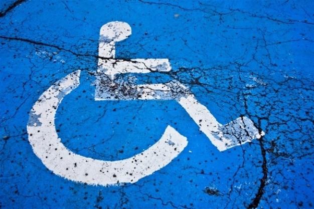 Signe handicap fissuré Photo gratuit