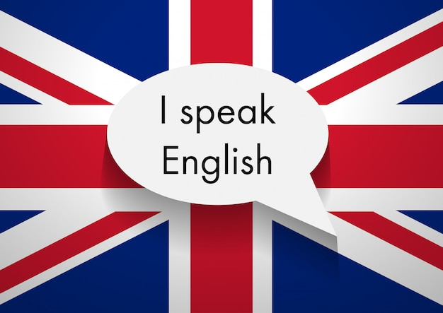 Signe parlant anglais Photo Premium