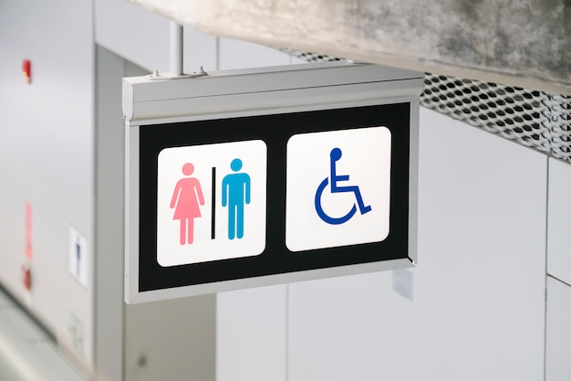 Signe de toilette Photo gratuit