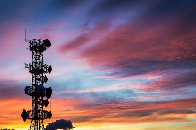 Silhouette de l'antenne Photo Premium