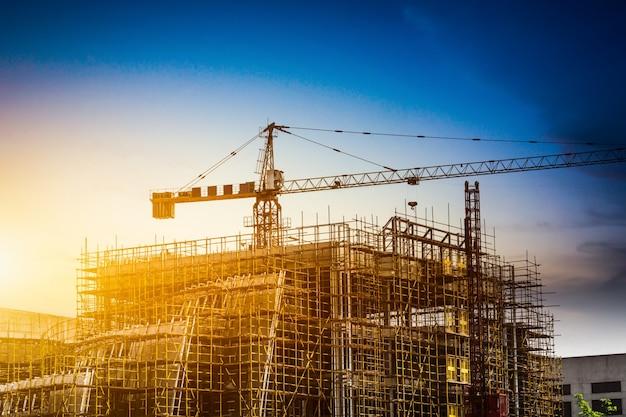 Silhouette De Construction Photo gratuit