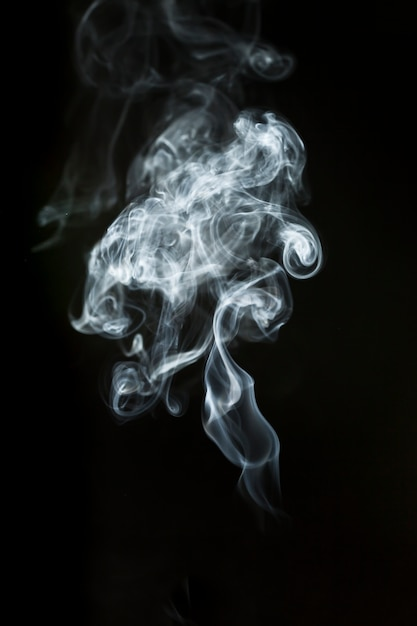 Silhouette grande fumée Photo gratuit