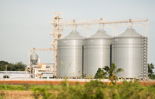Le silo dans la production d'aliments pour animaux Photo Premium
