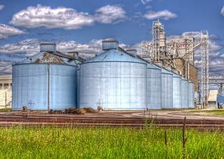 Silos bleu Photo gratuit