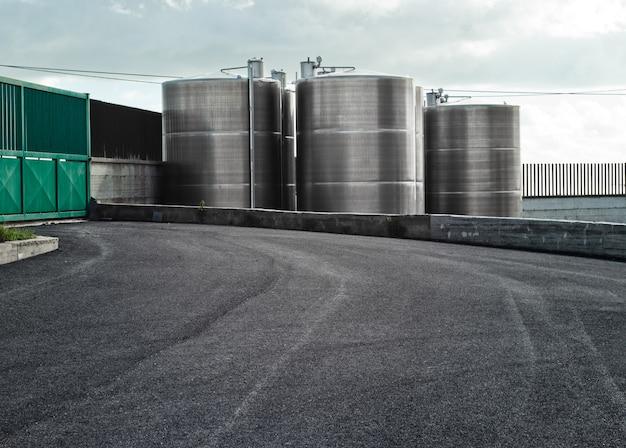 Silos industriels Photo Premium