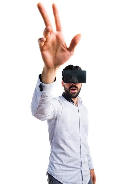 Simulation de point d'interface réalité invisible Photo gratuit