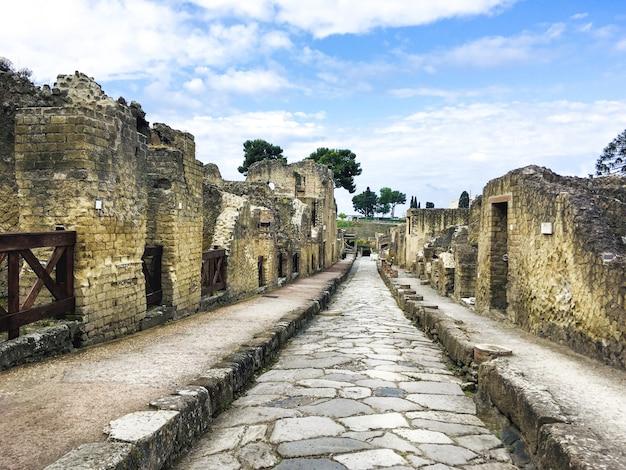 Le Site Archéologique D'herculanum Photo Premium
