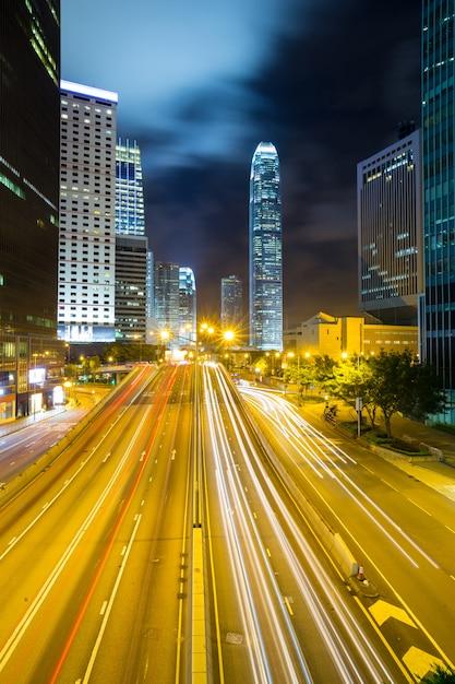 Skyline de l'amirauté de hong kong Photo Premium