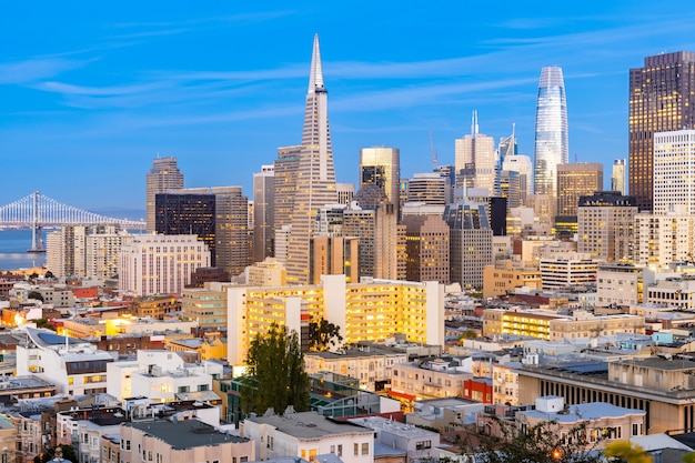 Skyline Du Centre-ville De San Francisco Photo Premium