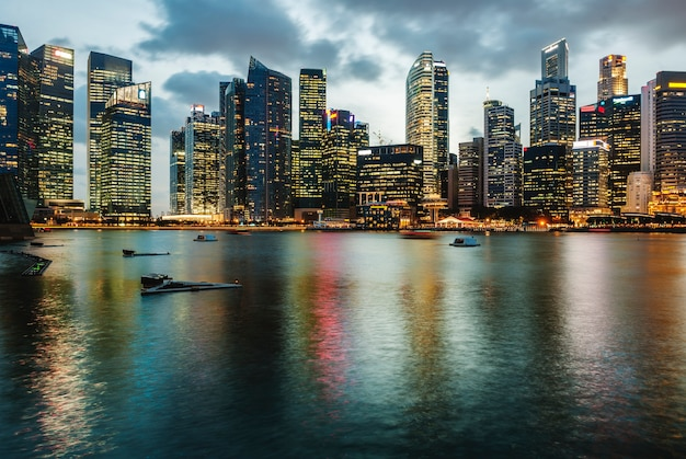 Skyline De Singapour Photo gratuit