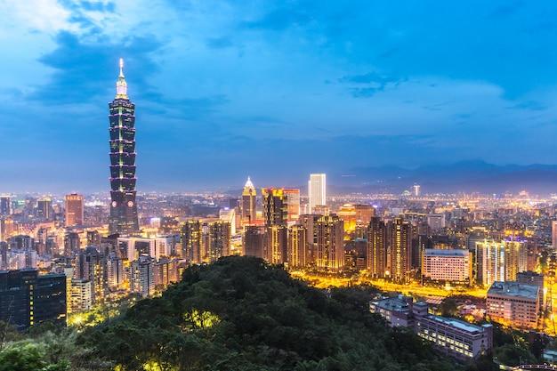 Skyline de taipei Photo Premium