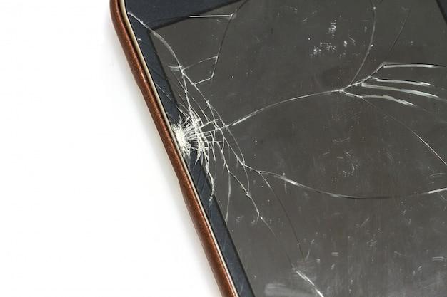 Smartphone avec écran cassé Photo Premium