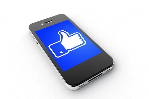 Smartphone facebook Photo Premium