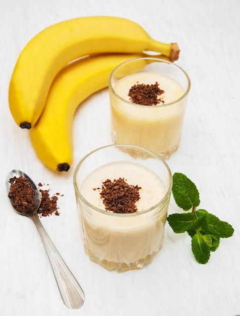 Smoothie à la banane Photo Premium