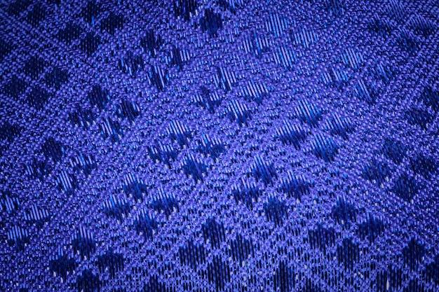 Soie bleue avec fond royal vintage. texture de tissage de luxe en soie thaïlandaise. Photo Premium