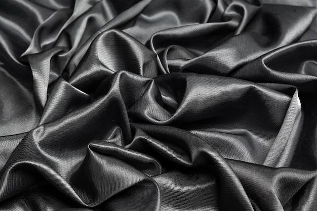 Soie noire tissu noir Photo Premium