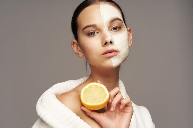 Soin Du Visage Femme, Masques Et Portrait Photo Premium