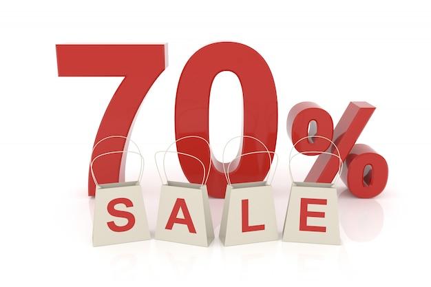 Soixante-dix pour cent de vente Photo Premium