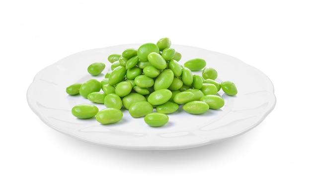 Soja Vert En Plaque Photo Premium