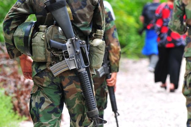 Soldat dans le domaine Photo Premium