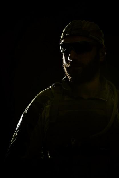 Soldat Du Groupe Des Forces Spéciales De L'armée Américaine Photo Premium
