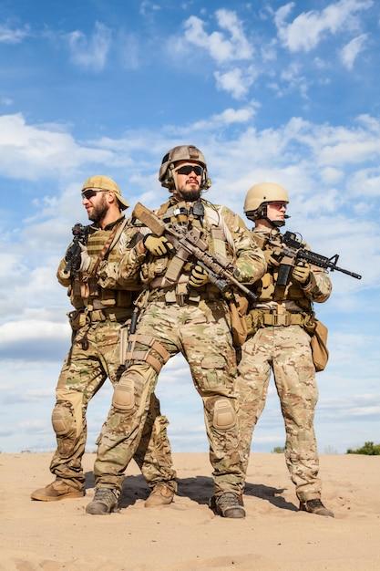 Soldats Du Groupe Des Forces Spéciales De L'armée Américaine Photo Premium
