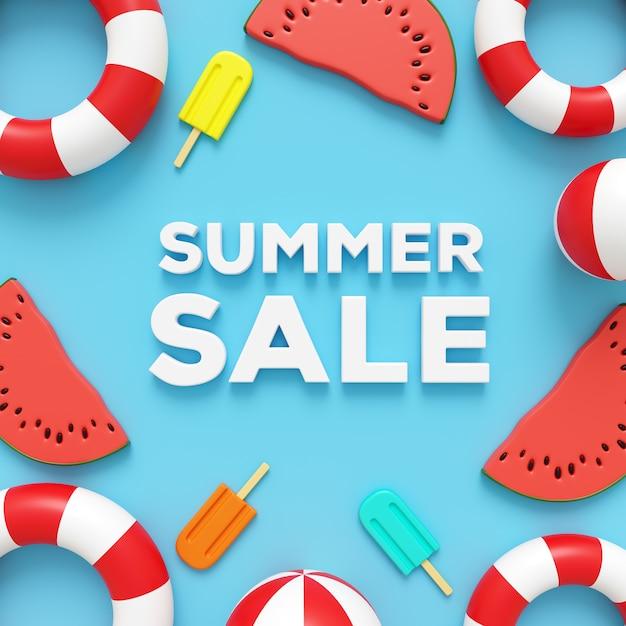 Solde d'été Photo Premium