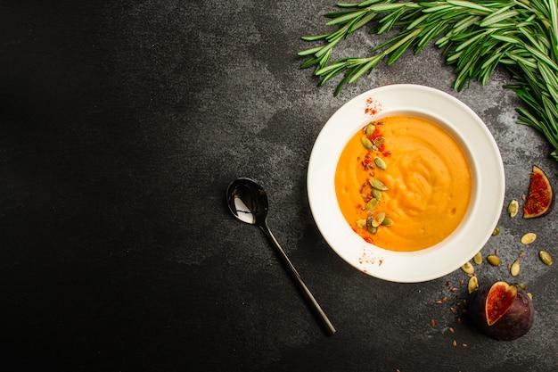 Soupe à La Citrouille Photo Premium