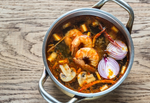 Soupe Thaïlandaise Tom Yum Photo Premium