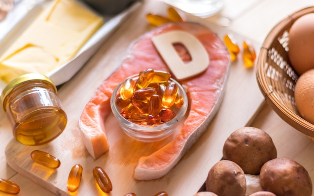 Source naturelle de vitamine d Photo Premium
