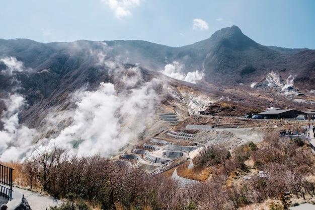 Source thermale montagne au japon Photo gratuit