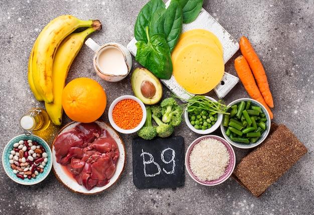 Sources Naturelles De Vitamine B9 | Photo Premium