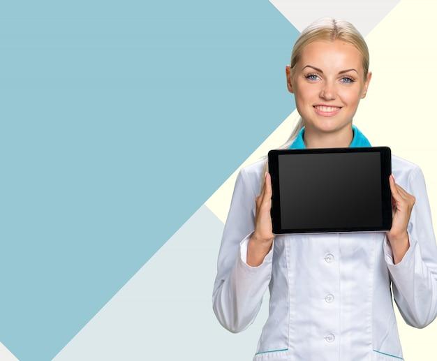 Sourire médical femme médecin Photo Premium