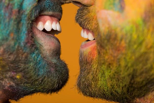 Sourire De La Paire Homosexuelle Photo gratuit