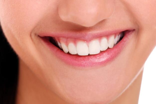 Sourire Parfait Avec Des Dents Blanches, Gros Plan Photo gratuit